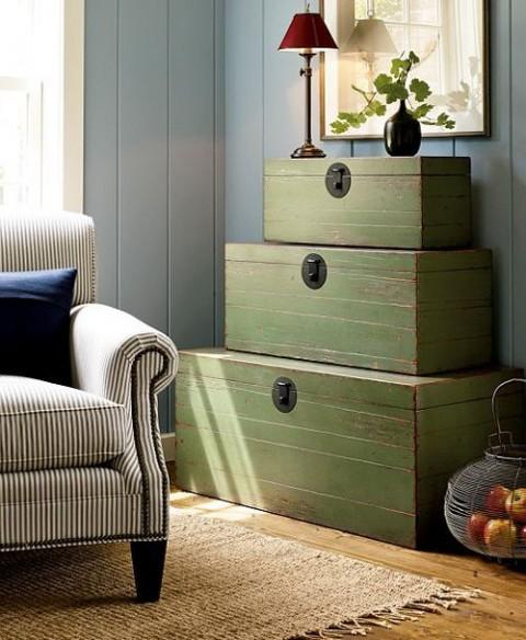 Decora tu hogar con viejos ba les - Baules de madera para decorar ...