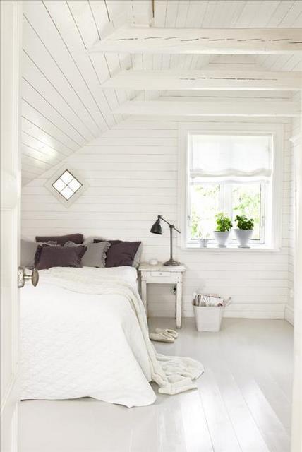 Habitaciones en blanco con detalles en color - Dormitorios en color blanco ...