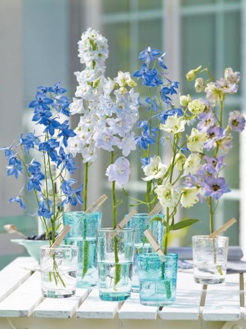 Ideas de adornos florales en tarros de cristal for Adornos hogar