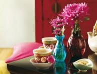 imagen Adornos florales en tarros de cristal