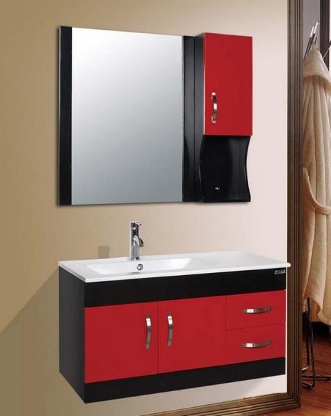 Armarios de colores para baños modernos