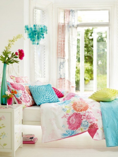 en azul y rosa