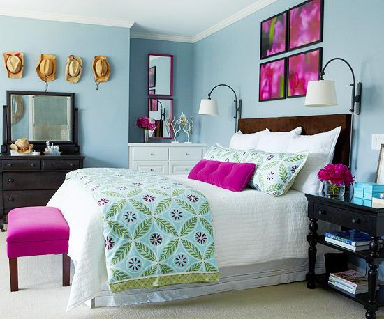 Combina El Azul Y El Rosa Para Decorar Tu Habitaci 243 N