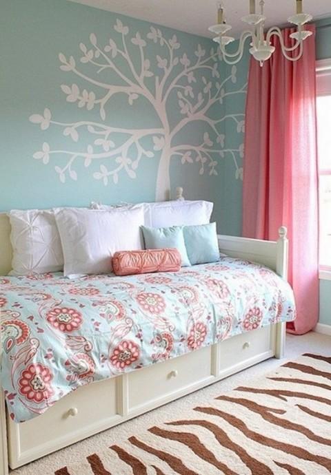Habitaciones en azul y rosa v5