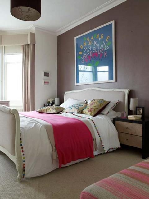 Combina el azul y el rosa para decorar tu habitaci n - Baules para dormitorios ...