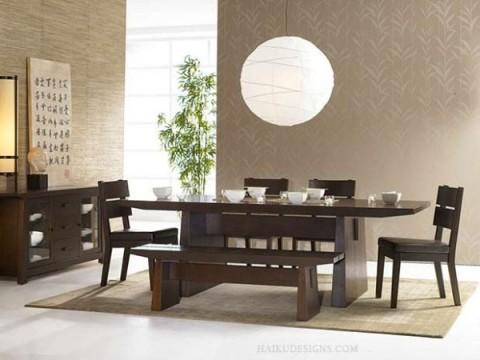 Los detalles para un comedor de estilo japon s for Comedor oriental