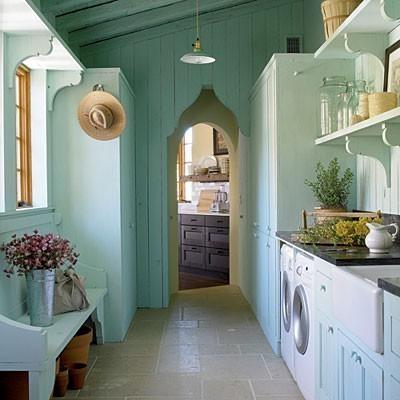 Un espacio para la lavander a para la cocina for Casa con lavadero