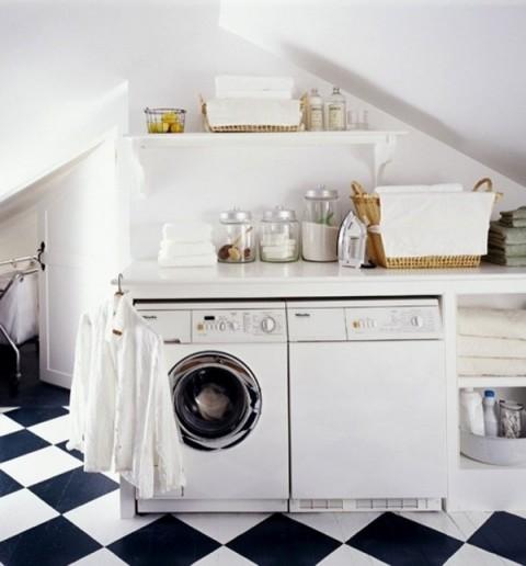 La lavandería en la cocina 5