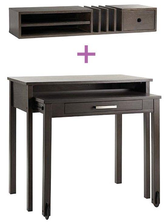 Incrementa el espacio de almacenaje de un escritorio for Escritorios para espacios pequenos