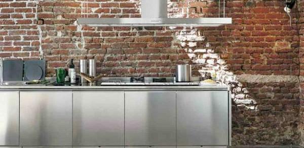 Cocinas de estilo industrial y ladrillo for Paredes estilo industrial