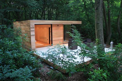 Oficinas de diseño en el jardín 6