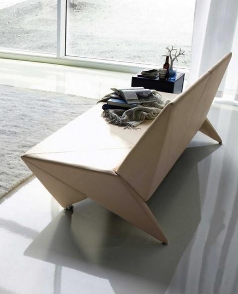 Mobiliario de diseño estilo origami 3