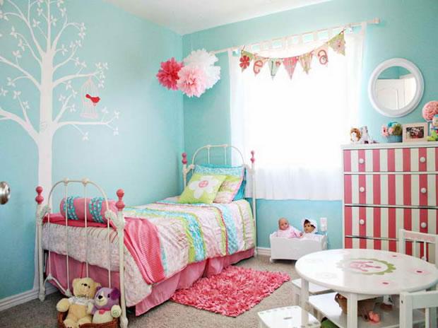 9 colores especiales para la habitaci n de los peques - Chambre turquoise et rose ...