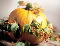 imagen Decoración de otoño con calabazas
