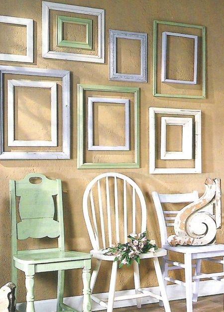 Decoraci n de paredes con marcos de fotos - Decoracion de paredes con fotos ...