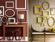 imagen Decoración de paredes con marcos de fotos