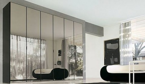 Espejos en el armario superficies luminosas - Espejos de bano con armario ...