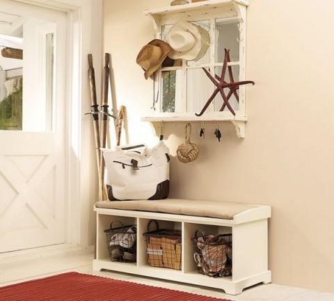 Ideas para almacenamiento b sico en el recibidor for Espejo con almacenaje