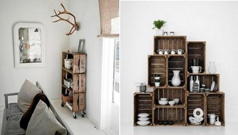 Huacales de madera decorados imagui - Caja fruta decoracion ...