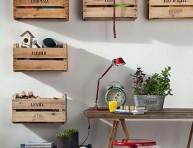 imagen Interiores decorados con cajas de fruta