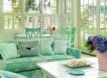 imagen Interiores majestuosos y relajantes en color menta
