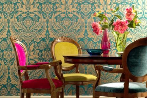 Colores rosa, azul y amarillo para interiores 1