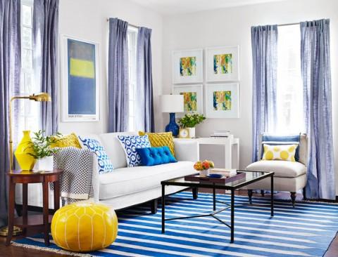 Colores rosa, azul y amarillo para interiores 3