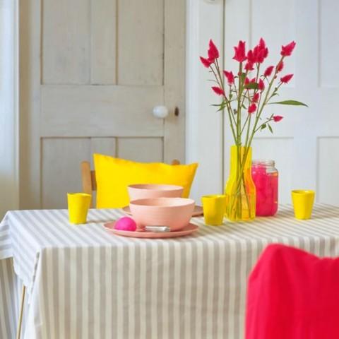 Colores rosa, azul y amarillo para interiores 4