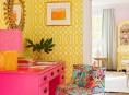 imagen Interiores con luz propia en azul, rosa y amarillo