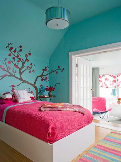 Colores rosa, azul y amarillo para interiores 7