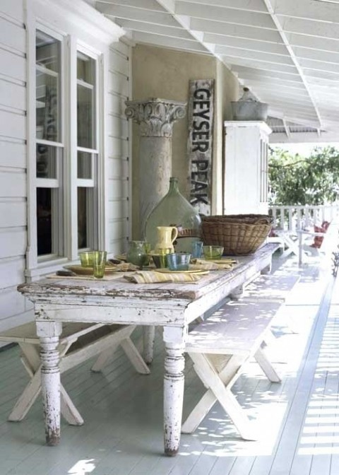 mesas rsticas de exterior