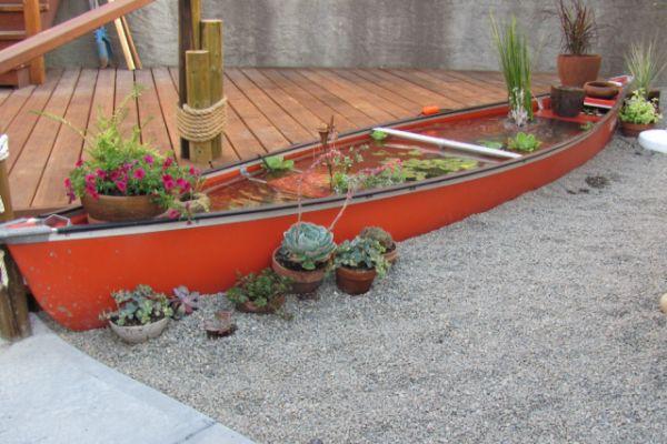 Una canoa para decorar 12