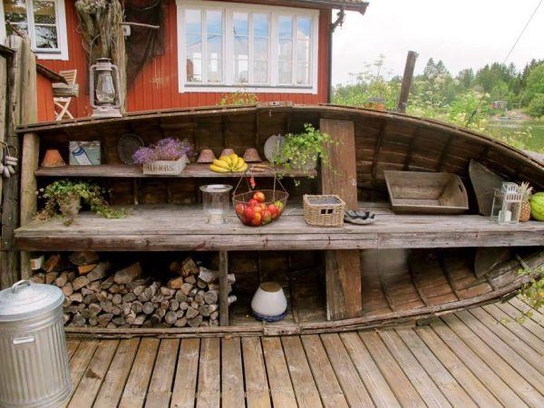 Una canoa para decorar 14
