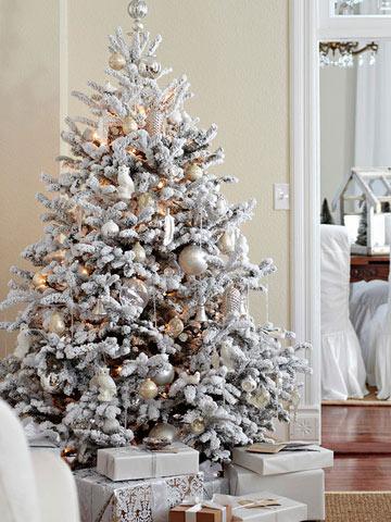 Consejos para la elecci n de un rbol de navidad artificial - Como adornar un arbol de navidad blanco ...