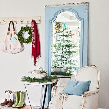decoraci n navide a para espacios reducidos. Black Bedroom Furniture Sets. Home Design Ideas