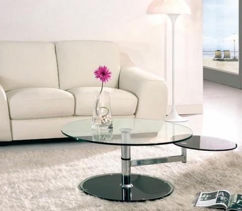 Mesas de centro modernas y circulares - Mesas de salon extensibles modernas ...