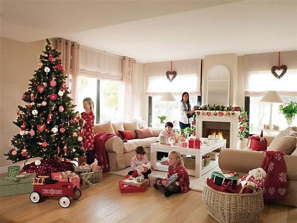 Navidad con estilo en una casa de barcelona - Adornos navidenos casa ...