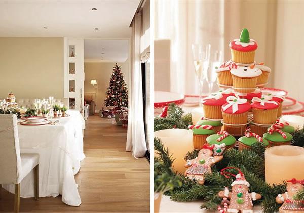 Navidad con estilo en una casa de barcelona - Decoracion navidena para la mesa ...