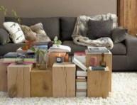 imagen Recicla objetos de madera como mesa de centro