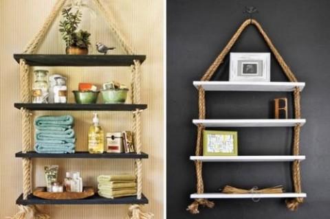 Rincones decorados con estanter as industriales - Ideas para estanterias ...