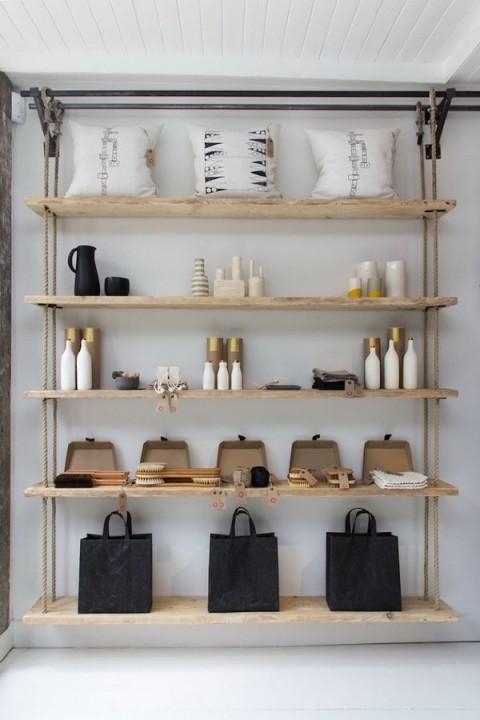 Rincones decorados con estanter as industriales for Estanterias cocina industrial