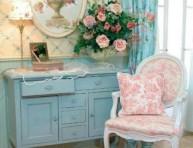 imagen Estilo shabby chic en rosa, blanco y azul