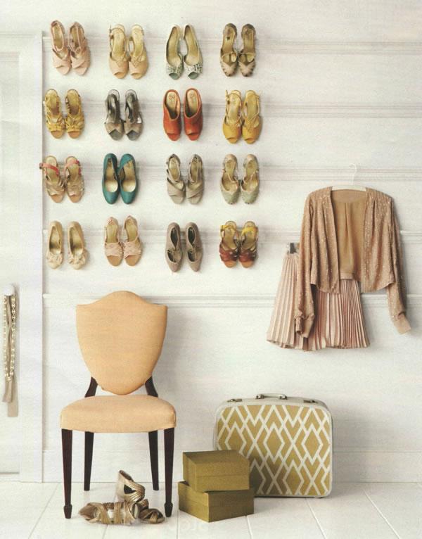 Ideas para almacenamiento de zapatos