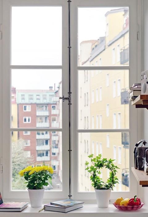 Rincones junto a las ventanas
