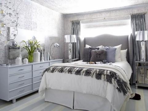 Habitaciones en blanco y gris Gua para Decorar