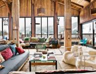 imagen Acogedora cabaña de madera en los Alpes