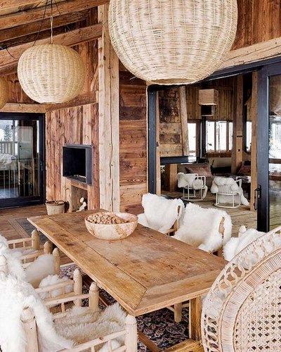 Acogedora caba a de madera en los alpes - Botelleros de madera rusticos ...