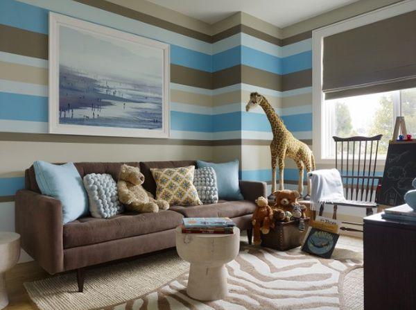 Azul y marrón, una combinación clásica y elegante