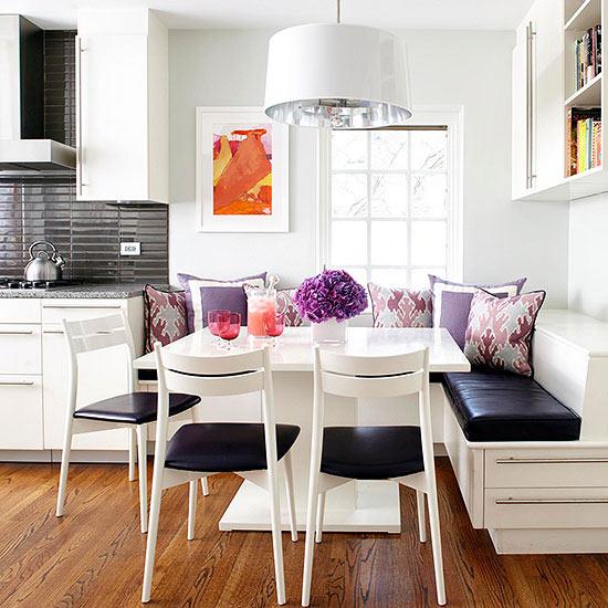 Ideas pr cticas para tener un comedor en la cocina - Mesa esquinera cocina ...