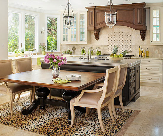kitchen table and island combinations ideas pr 225 cticas para tener un comedor en la cocina 24911
